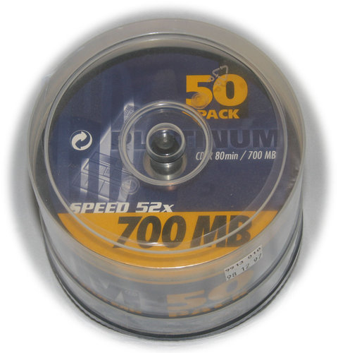Platinum Cd-R Spindel 50er 700 MB Speed 52x