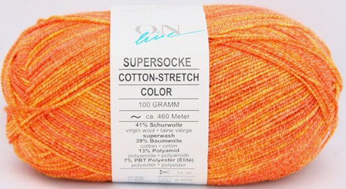 Supersocke Cotton stretch Color Orange