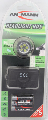 Ansmann Headlight HD 5 inkl. Batterien