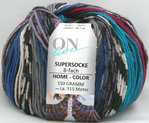 Supersocke HomeColor 8fach grau-blau-grün-flieder