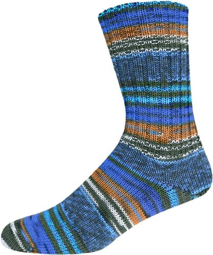 Supersocke Bahia Color blau/braun
