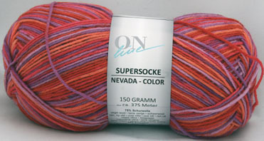 Nevada Color 6-fach ONline rot/flieder/orange